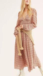 NWT- Free People Indigo Child Midi Dress